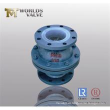 Válvula de retención de revestimiento PFA (WDS)