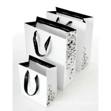 elegant promotional printed paper bag with cotton rope