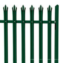PVC plástico cinturón verde plástico empalizada valla de jardín