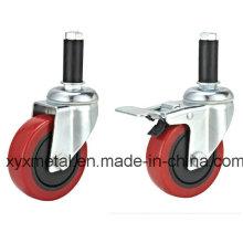 Medium Duty Double Bearing Rotating Mute Design Caster
