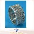Bijoux fantaisie pour dames Bague entière creuse Anneau en argent sterling 925 R10497