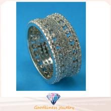Dame Art- und Weiseschmucksache-hohler vollständiger Ring 925 Sterlingsilber-Ring R10497