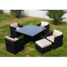 Salon de jardin / mobilier/Patio meubles chaises en rotin et Table (7020)