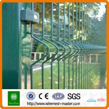 Зеленое ПВХ покрытием сварные изогнутые сетки ограждения (ISO9001 и CE)
