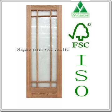 9 Lite Natural Veneer French Door