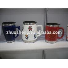 más populares productos corazón forma cerámica la taza, taza de cerámica de la tiza