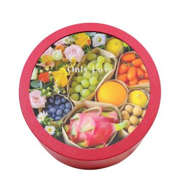 Открытое окно прозрачная фруктовая цветочная коробка свежий цветок круглый букет подарочная коробка пустая коробка в сети знаменитости высокого класса