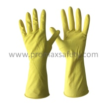 DIP Flocked Yellow Haushalt Latex Handschuh