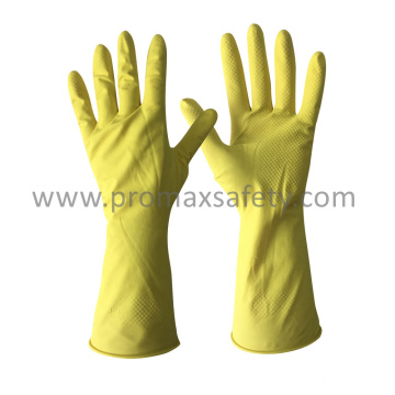 45g DIP Flocked Yellow Household Latex Washing Glove