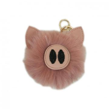 PINK PIG PLUSH KEY CHAIN-0
