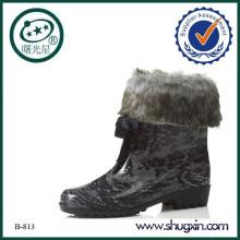 waterproof boots flat heel platform boots B-813