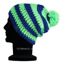 Качество 100% Супер мягкая акриловая пряжа Зимняя вязаная шапочка