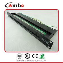 Proveedor de China rj11 rj45 patch panel T568 A, T568B patrón de cableado