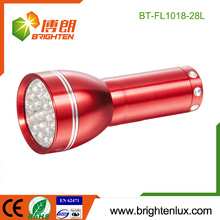 Factory Logo gedruckt Red Emergency Handheld 28 führte Aluminium kleine LED Fackel mit 3 * AAA Batterie
