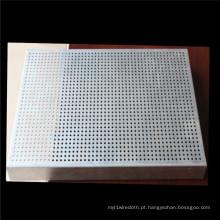 Malha de placa de absorção de som e malha de metal perfurada