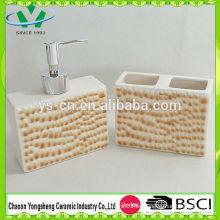 Nuevo diseño de elemento de moda leopardo baño de impresión conjunto