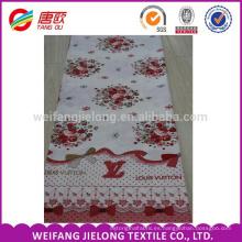 Tejido de cama de algodón de alta calidad para bodas
