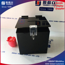Best Price Customized Shape Acrylic Donation Box with Lock