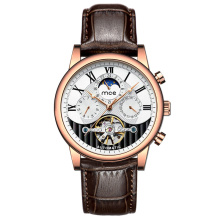 Luxury Men Moon Phase Tourbillon Movt Automatic Watch