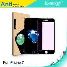 Anti-Purple-Light-Displayschutz aus gehärtetem Glas für iPhone7 3D-Kohlefaser