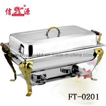 201 Stainless Steel Golden Paint Chafing Dish (FT-0201)