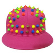 Snapback Cap with Flat Peak with Plastic Studs (SP-3)