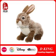 """Высокое Качество 9"""" Реалистичные Кролик Фаршированные Мягкие Плюшевые Игрушки"""