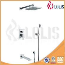 Single handle brass bathroom hidden rain shower set faucet