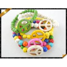 Pulsera de la paz, pulseras coloridas de los granos (CB068)
