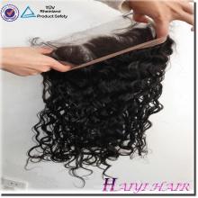 Usine prix de gros 100% vierge cheveux brésiliens oreille à oreille 360 dentelle fermeture frontale
