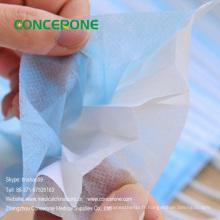 Fabricant de masque facial chirurgical non-tissé d'hôpital Chine