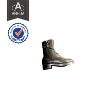 Genuine Leather Anti-Slip Black Police Military Boot