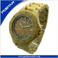 Relojes de madera vendedores superiores de los hombres del cuarzo relojes color de madera casual