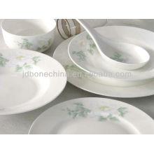 Vajilla de cerámica de china de hueso eco-friendly de forma cuadrada en china