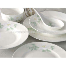 square shape eco-friendly bone china ceramic tableware in china