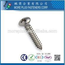 Maker in Kaohsiung Taiwan Carbon Stahl M3X10 Slot Phillips Oval Kopf Selbstschneiden Schraube