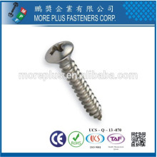 Créateur à Kaohsiung Taiwan Acier au carbone M3X10 Slot Phillips Oval Head Self Tapping Screw