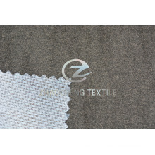 Hemp Grey Suede Bonded Knitted Fabric for Sofa Use