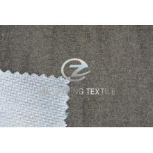 Серая замшевая трикотажная ткань из конопли для использования на диване