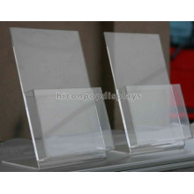 Custom Table Top Advertising Size A4 Display Stand, Commercial Brochures A4 Acrylic Paper Display Stand