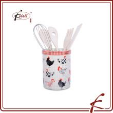 Titular de accesorios de cocina de cerámica de diseño de moda