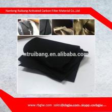 materiales de fibra de carbón activado de tela de carbono