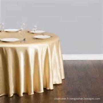 Fantaisie en gros nappe satin usine / table tissu pour hotel mariage / ronde satinée superposition
