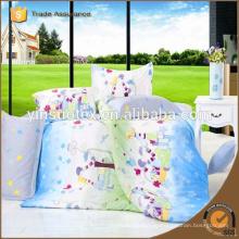 Heiße neue Produkt Hochwertige Luxus billig Polyester Mode gedruckt Bettwäsche gesetzt