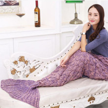 Best jualan mengait chunky Mermaid Blanket
