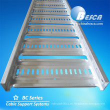 Light Duty AU tipo bandeja de escalera de cable pregalvanizado de acero / bandeja de escalera de cable / bandeja de cable perforada (manufacturers.UL.CE.ISO.SGS)