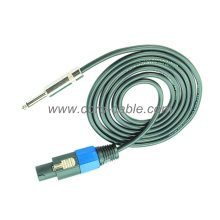 Cable de altavoz DT 2 X 2.5 mm² Jack Mono de Speakon