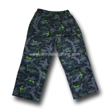 camo elastic waist pants for age 4-12A
