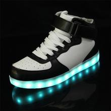 PU Rubber LED Shoes Unisex LED Sneaker Big Size