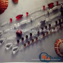 Rideau de perles transparent personnalisé pour fenêtre coulissante
